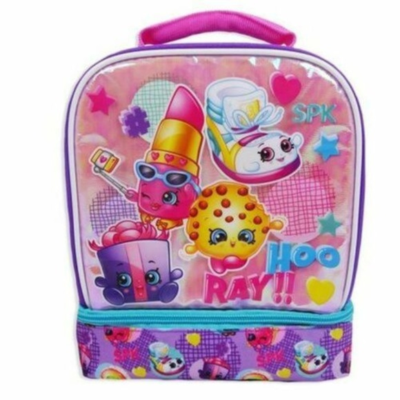 Shopkins Other - NWT Shopkins Lunch Bag w/ Zipper Insulated Pink